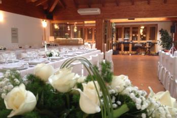 centro tavola pranzo di nozze hotel gardel