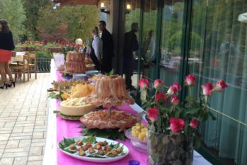 antipasti a buffet in terrazza hotel gardel
